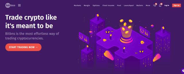 Bitcoin exchanges in India - Bitbns website