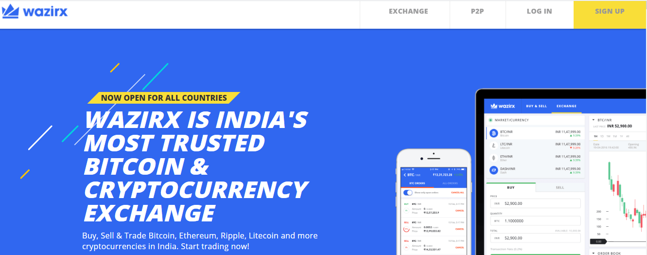 Wazirx.in the cryptocurrency exchange