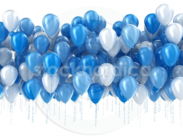 Blue And White Party Balloons Stocknordica Com