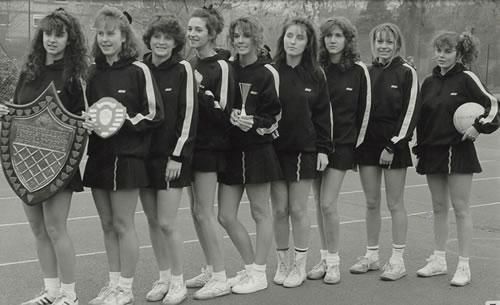 Netball leavers, 1987