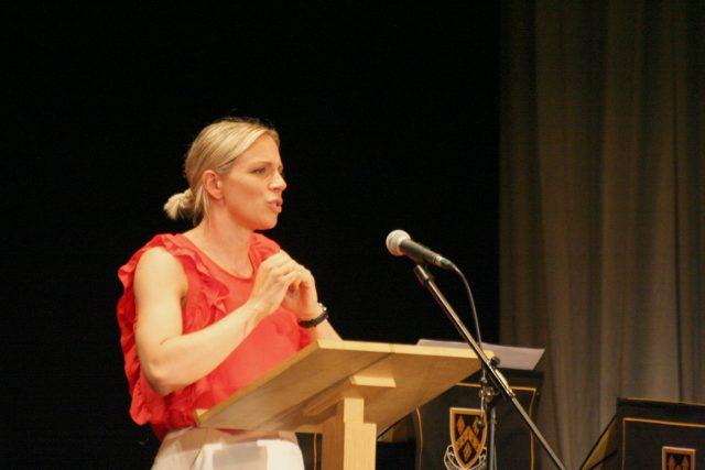 Kate Richardson-Walsh at Speech Day