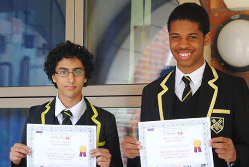 Animation12 winners Christian and Yusuf