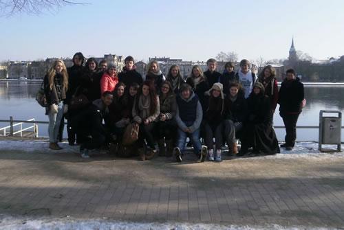 German exchange pupils in Bad Segeberg