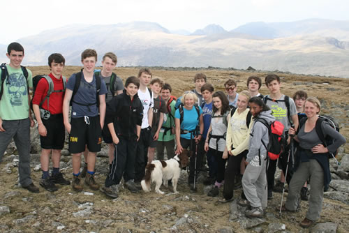 Pupils on Snowdonia climbing trip