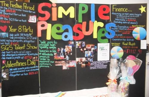 Simple Pleasures's Young Enterprise display