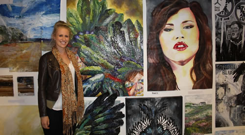 Sixth Form pupil exhibits her art