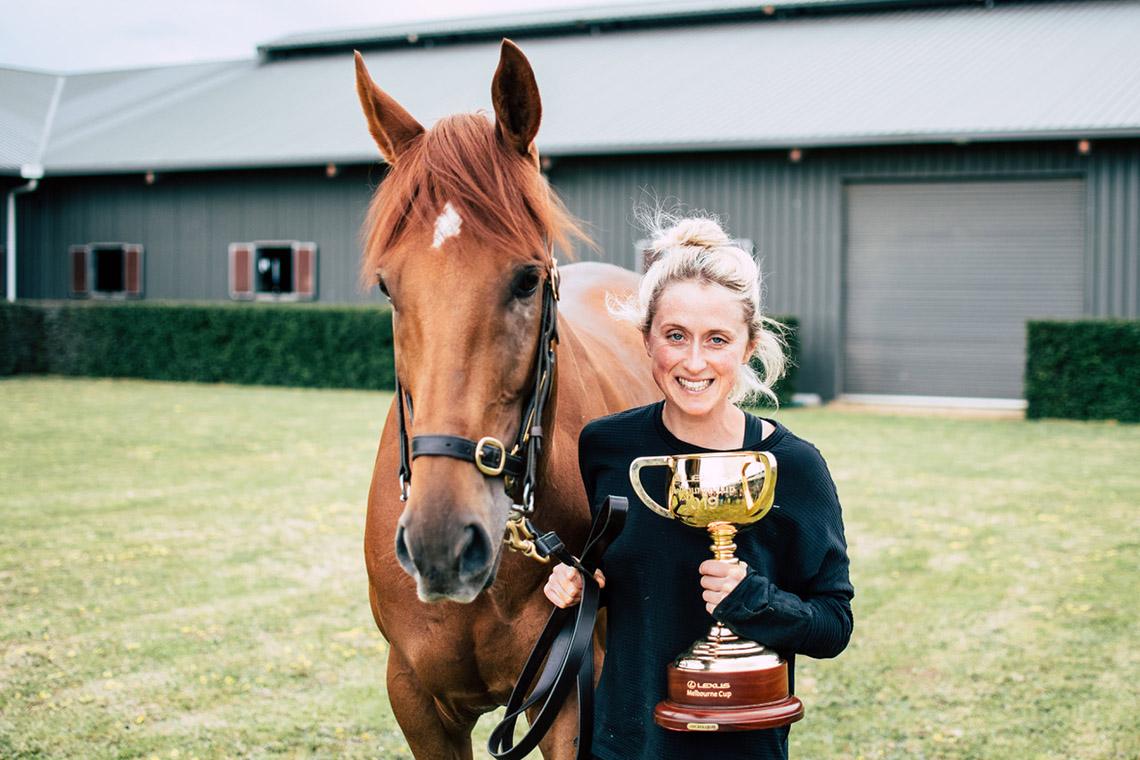 Champion racehorse vet Dr Lucy Worthington