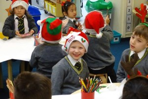 All smiles in Reception at Christmas