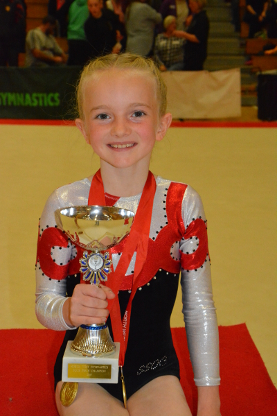 Millie Hewart - Overall Champion Novice aged 9