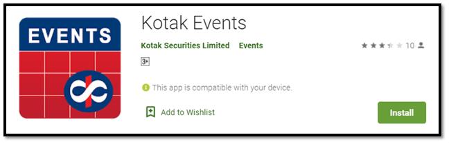 Kotak Events App