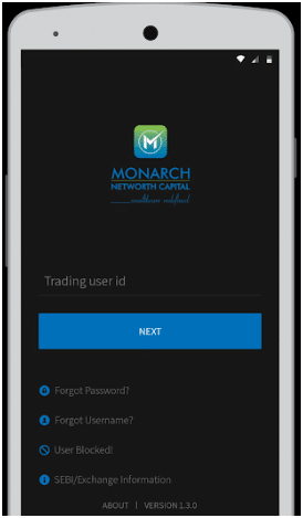 Monarch Networth Mobile Trading App Login