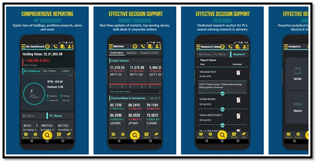 PL Mobile Trading App Screen