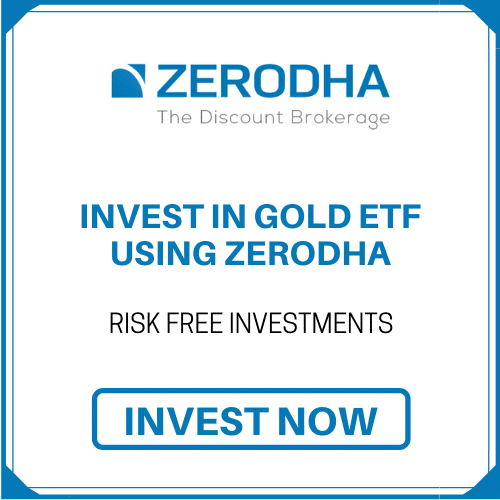 invest Gold etf using zerodha