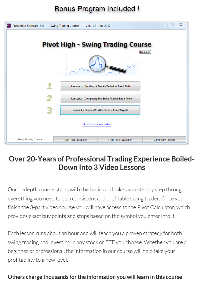 The Pivot High Swing Trading Course