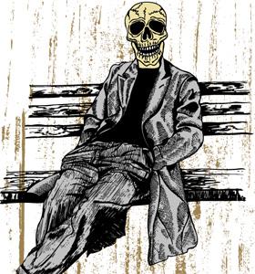 Skull Man Vector T-shirt Graphics Design