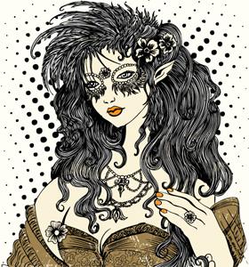 vintage Beautiful Girl Vector T-shirt Design Illustration