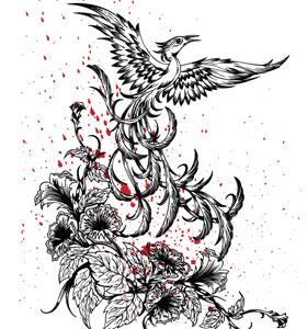 Phoenix Bird Vector T-Shirt Design