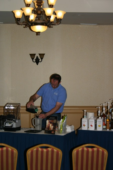 SGC's Thom Swain blends an excellent blended specialty beverage