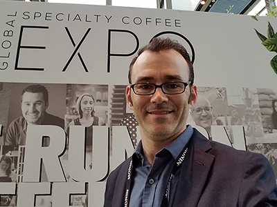 Stockton Graham's Brady Butler at the Specialty Coffee Expo