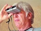 Searching Man Binoculars binocular,man,person,people,look,search,find,grey,senior, lens,telescope,view,