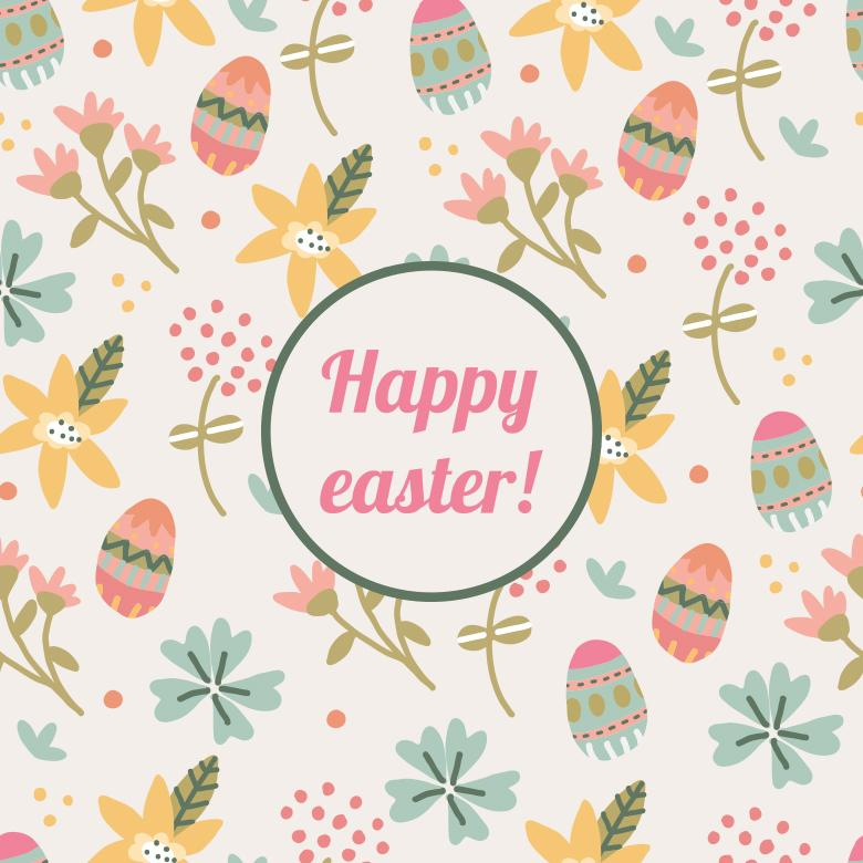 Happy Easter Pattern Free Stock Photo By Sara On