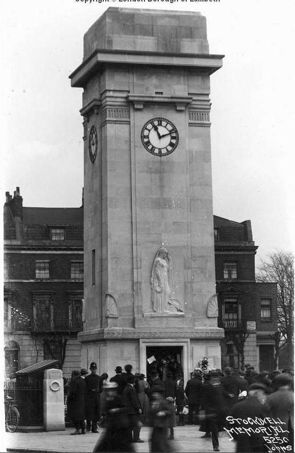 Stockwell Clock tower war memorial being unveiled in 1920