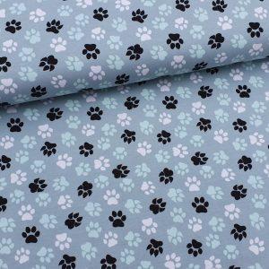 Dog feet grau Jersey