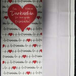 Nähset Tasche Dankeschön Krisenhelden türkis, Canvas Bio