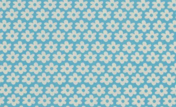 Baumwolle Flower blue-white