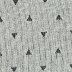 Sommersweat Dreiecke schwarz