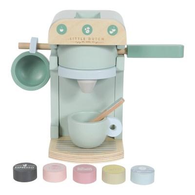 Kaffeemaschine Holz, Holzspielzeug, Küche, Kinderküche, Küchenspielzeug, Spielzeug, Holzspielzeug, Holz, nachhaltiges Spielzeug, Niederländisches Label, skandinavisches Spielzeug, pastell, Geschenk