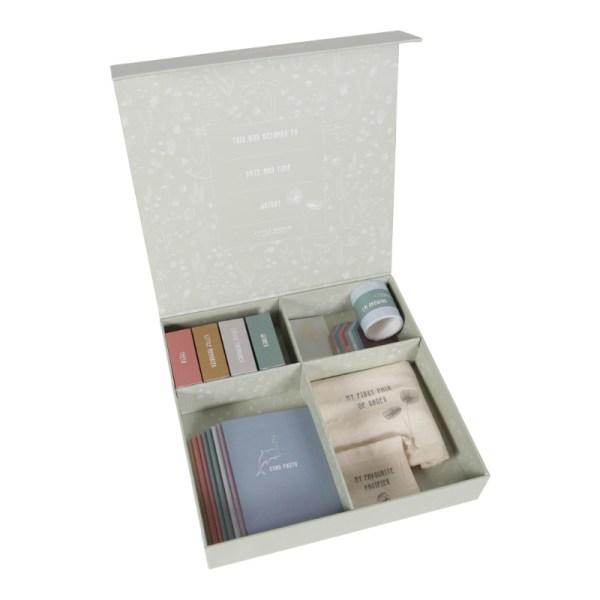 Memory Box, Little Dutch, Erinnerungsbox, Erinnerungen, meilensteine, Meilensteinbox, Erster Fußabdruck, erste Haarsträhne, erste Zähne, Briefe, Stofftiger