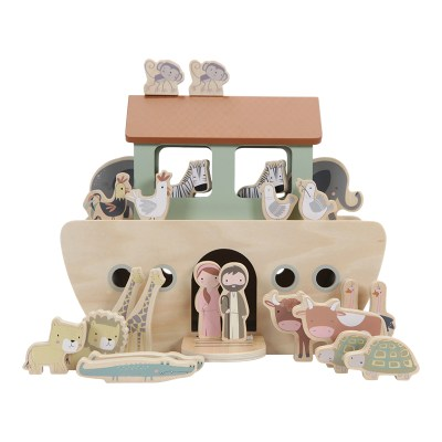 little dutch, Arche Noah, holzspielzeug, Tiere, holzboot, Noah und seine Tiere, stofftiger, Geburtstag, Geschenk, personalisierbar