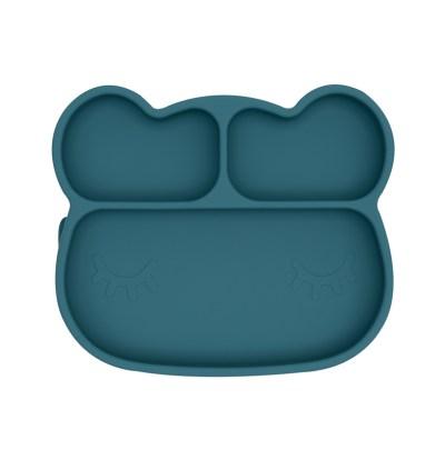 Stickie Plate Teller, Silikonteller, Silikon Teller, Teller, Kinderteller, Kindergeschirr, Silikongeschirr, Geschirr, Teller mit Unterteilungen, Teller mit Saugfuß, Stofftiger, We might be tiny, tiny2big