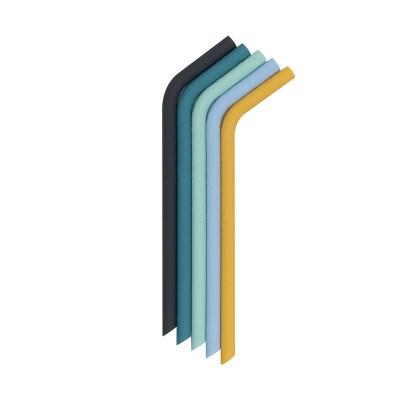 Bendie Straws - Earth & Blooms Back, Strohhalm, Strohhalme, Trinkhalme, Straw, Silikon, Mehrwegstrohhalm, ökologisch, stofftiger