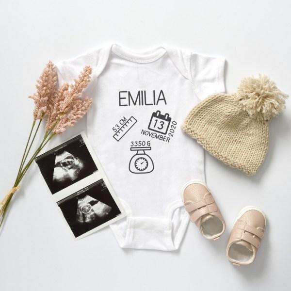 Body mit Geburtsdaten, personalisierter Body, personalisiertes Shirt, Babybody, Geburtsgeschenk, Taufgeschenk, personalisiertes Babygeschenk, personalisiertes Geschenk, Newborn, Babyshop, Stofftiger