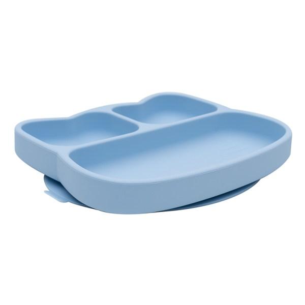 Stickie Plate Teller, Kindergeschirr, Kinderteller, Jausenteller, Silikonteller, Silikongeschirr
