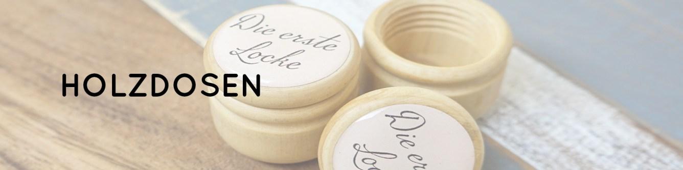 Erste Locke, Holzdose, Geschenk zu Taufe, Geschenk zu Geburt, Holz, Aufbewahrung, Erinnerung