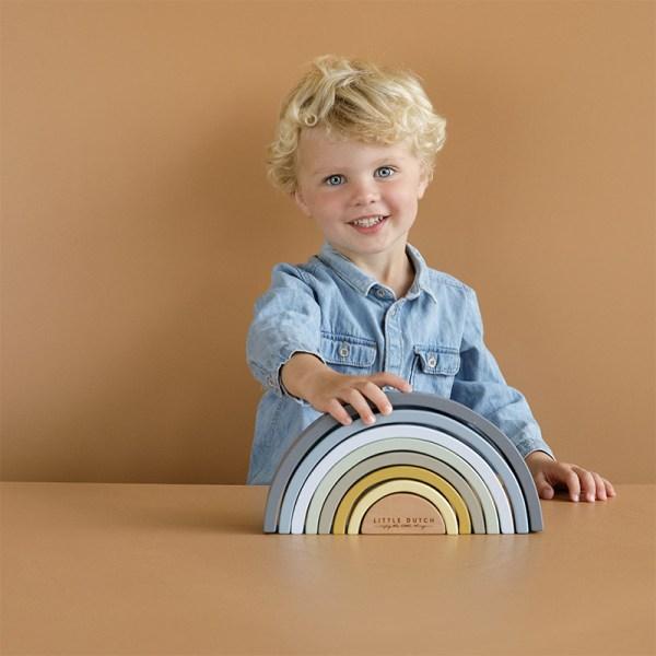 Holzregenbogen, Regenbogen, Holzspielzeug, Spielzeug, Regenbogen, Motorikspielzeug, Babyspielzeug, Little Dutch, Geschenke für Kinder, Babygeschenke, Holzstapelturm, Stapelturm, FSC, nachhaltig, zertifiziert, Little Dutch, Stofftiger