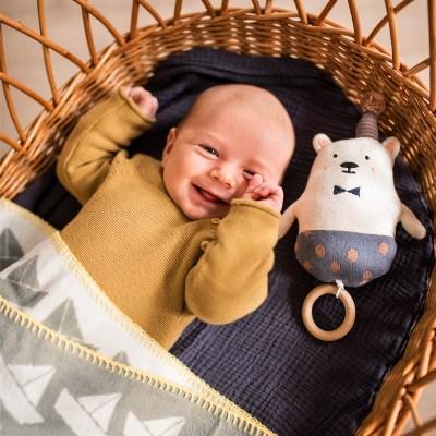 Spieluhr, Mobile, Schlaflied, Spieluhren, Babyspielzeug, Baby, Geschenk, Geburt, personalisierte Geschenke, Babygeschenk, Taufgeschenk, Stofftiger, Ava & Yves