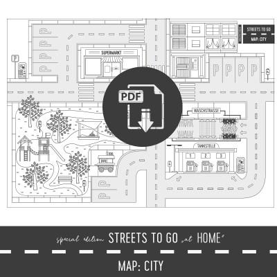Streets to Go Special At Home Edition, Ausmalbild, Malbild, Beschäftigung, Kinderspiele, Spiele, Quarantäne, Regentag, Spielideen