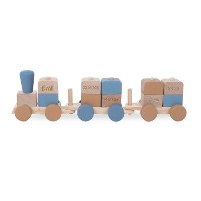 Holzzug, Holz Zug, Holzeisenbahn, Holz eisenbahn, Personalisierte Geschenke, Personalisiert, personalisiertes Spielzeug, Jollein, Stofftiger
