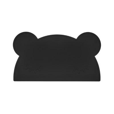 Tischset Placie Bär schwarz, Tischset, Placie, Bär, Silikonset, Silikon, Unterlage, Platzset, Kinderunterlage, Kinderset, Essen, Kleinkind, Tisch, Unterlage, Stofftiger, BPA frei