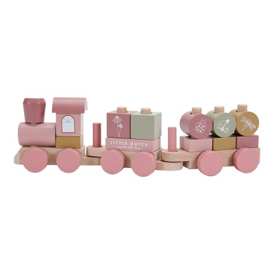 little dutch, Holzeisenbahn, spiele, spiel, 3 jahre, 2 jahre, kind, spielzeug, geschenk, stofftiger, Little Dutch Holzeisenbahn rosa. Holzspielzeug Holzeisenbahn Eisenbahn Holz