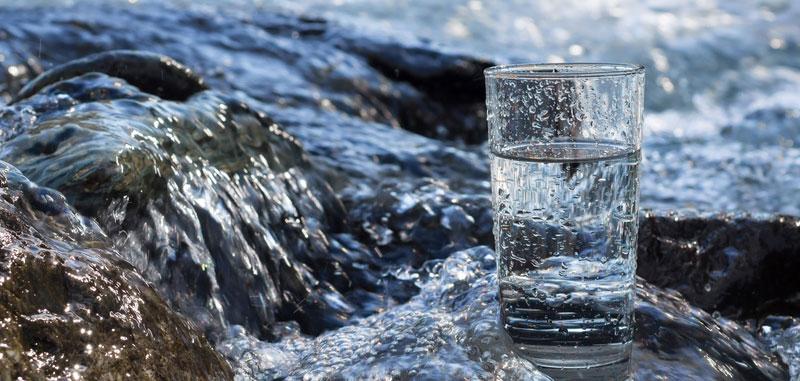 Quellwasser für Stoffwechsel trinken