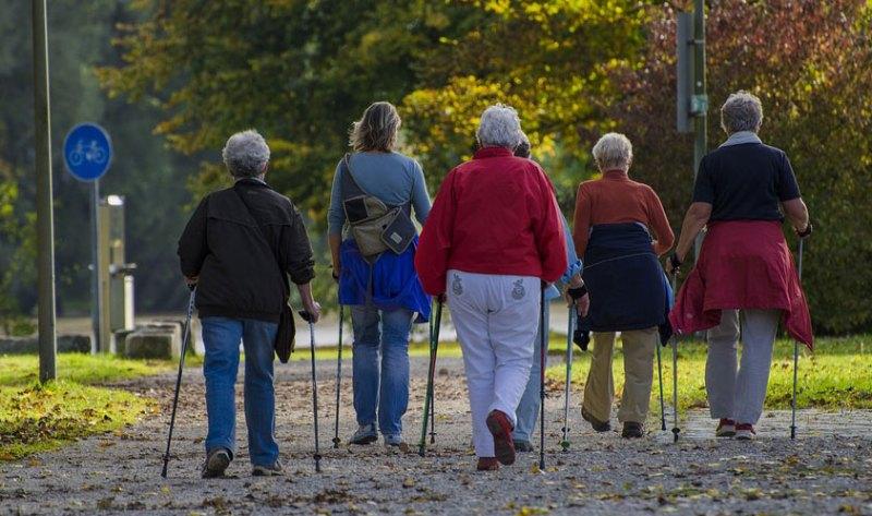 Sportliche Aktivitäten Nordic Walking