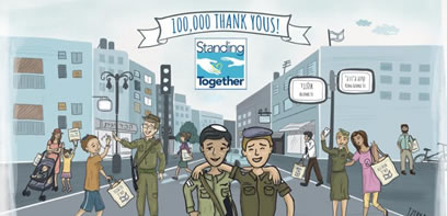 One hundred thousand thank yous to Israeli Soldiers