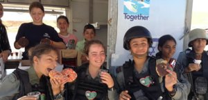 Channukah Donuts for IDF soldiers