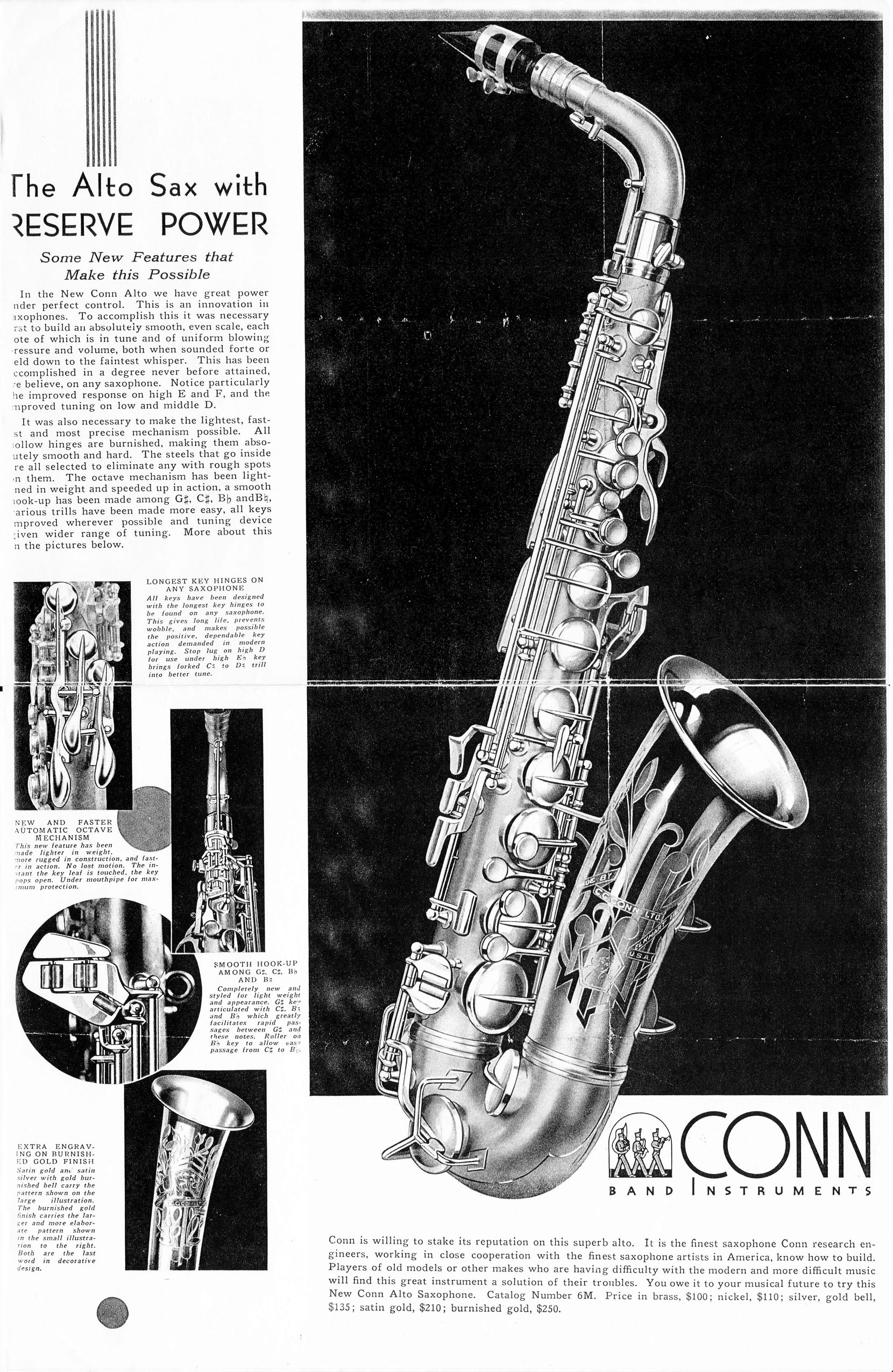 "Conn 6M ""Transitional"" Saxophones « Stohrer Music"