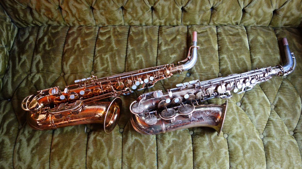 The Super 20 (L) compared quite favorably with my personal horn, a King Zephyr Special (R)